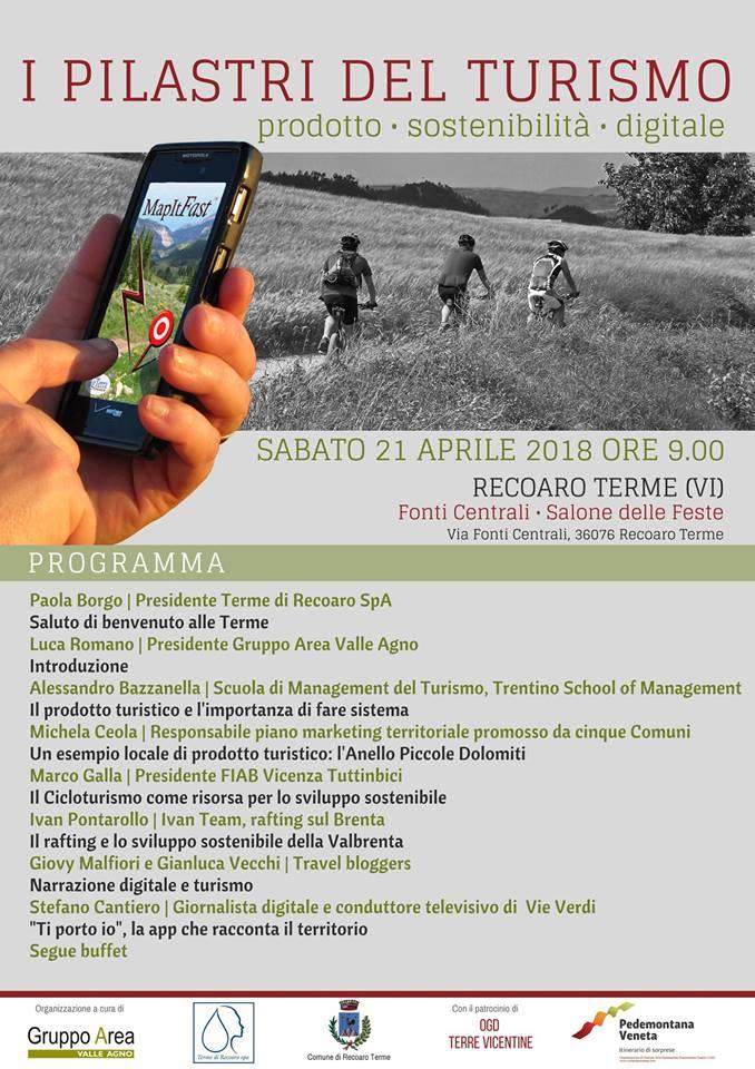 """Giovanna Malfiori e Gianluca Vecchi relatori all'incontro """"I Pilastri del Turismo"""" - Recoaro Terme (Vicenza)"""